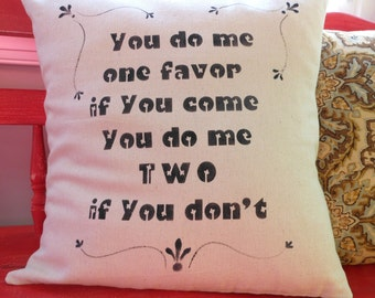 Annette - One Favor Pillow