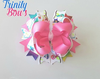 Hello Friend - Twisted Boutique - TBB - Large bow - Rainbow - Pink - USDR