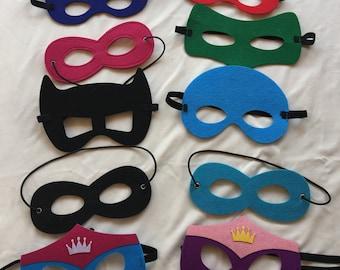 Superhero Party Masks, Superhero Party Favors, Superhero Birthday Favors, Kids Party Masks, Boys Party favors