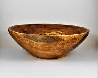 Hand turned bowl of spalted maple