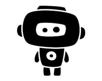 Cute Robot Vinyl Decal #6