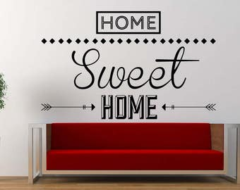 Home Sweet Home Vinyl Wall Decal Home Decor a103