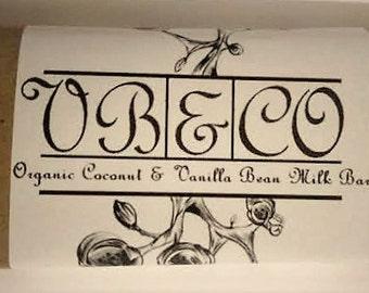 Organic coconut oil & vanilla bean milk bar