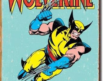 Wolverine Retro Tin Sign