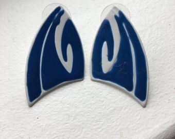 Shark Fin/Wave Earrings