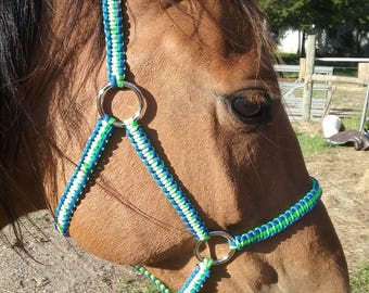 Horse halter etsy for Paracord horse bridle