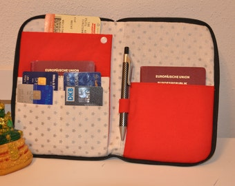 Document holder travel case