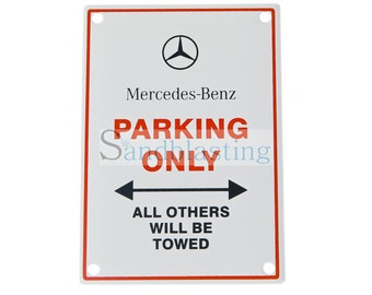 Enamelled plate Mercedes-Benz