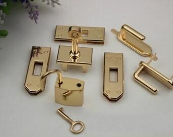 1sets Purse lock gold silver brass Gun  twist purse turn lock clutch clock Turn Lock Fastner,Purse bag handbag Latch hardware