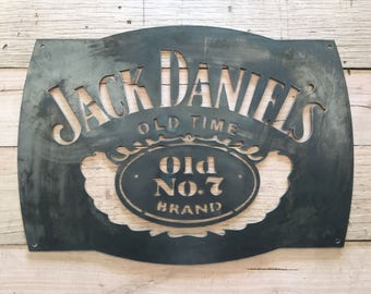 Jack Daniels Mancave Steel wall garden art sign