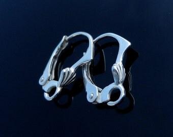 Sterling Silver Lever Back ear earrings