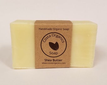 Organic Shea Butter Soap - Unscented (Handmade)
