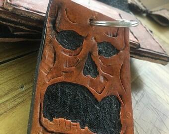 Necronomicon evil dead leather keychain