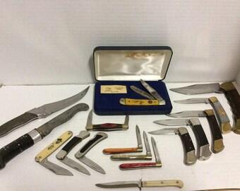 Lot of 16 Vintage Knives