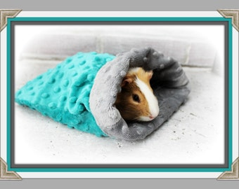 Minky Snuggle Sack - Small Animal Snuggle Sack - Fleece - Personalized - Guinea Pig - Hamster - Ferret - Kitten - Puppy - Chinchilla -