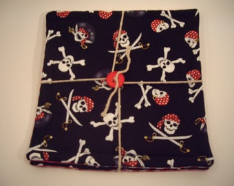 It's a Pirates life for me! Pot Holder and Coaster set should land on your kitchen island!