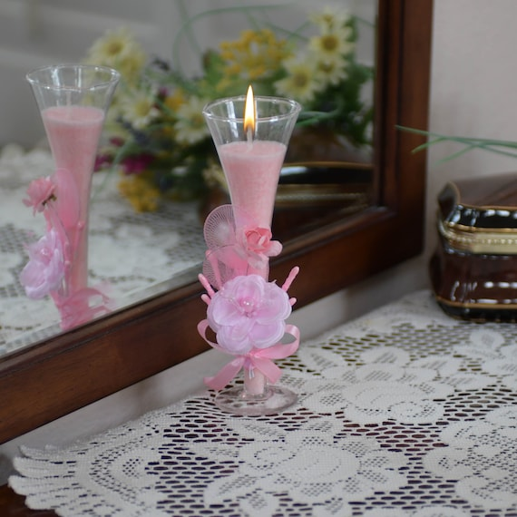 Favor Wine Glass Candle for Wedding, Anniversary, Birthday or Shower