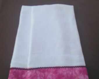 Bright Pink tea towels, pair