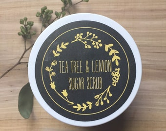 Tea Tree & Lemon Sugar Scrub 8 oz