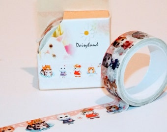 Cat Lover Washi Japanese Tape. Great for scrapbook. Personalized labeling. Cute washi tape.