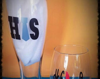 His & Hers Wine Glasses