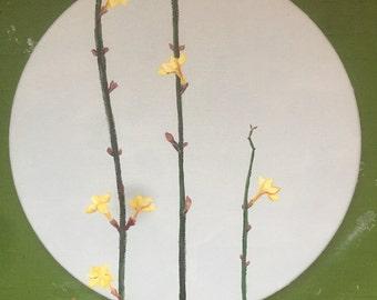 Original Art, Original Painting, Affordable Art, Floral Painting, Nature Painting, Nature Art, Yellow Flowers, Flower Art