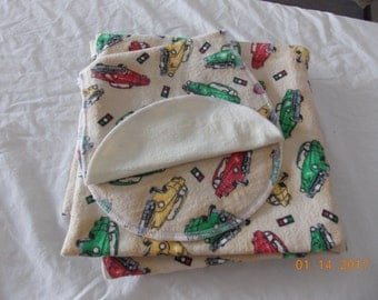 Baby Brown Car Rciving blanket with burp cloth's