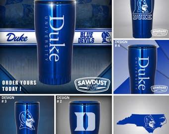 20 Oz. Tumbler - Duke Blue Devils - ©2017 Sawdust Design