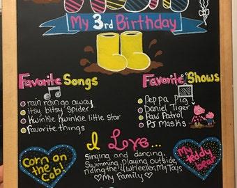 Customized birthday board!!