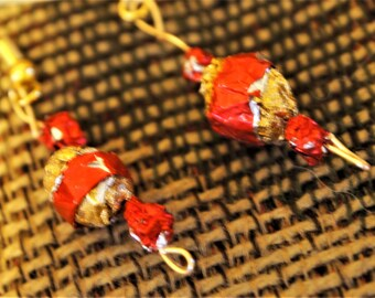 Recycled Wrapper Earrings
