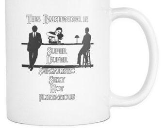 Super Duper Swagalistic Coffee Mug for Bartenders | Custom Designed Bartending Mug | 11oz White or Matte Black Mug for Coffee or Tea