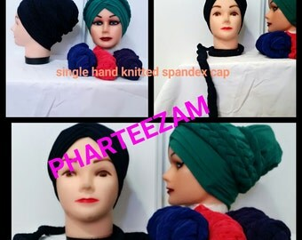 Single Hand Knitted Spandex Cap