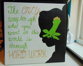 Tiana Quote Canvas