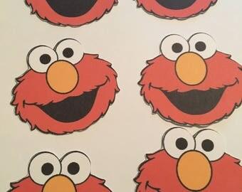 12 Sesame Street Elmo Cutouts