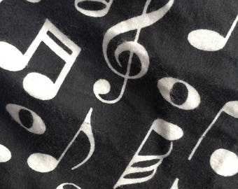 Music note scarf, Musical Scarf, Infinity Scarf, Black Scarf, Notes Scarf, Unique Scarf, Piano Scarf, Black White Scarf, Treble Clef Scarf