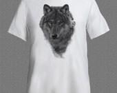 Wolf Portrait Predator Wildlife Animal Tshirt