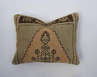 Neutral Anatolian Vintage Rug Pillow