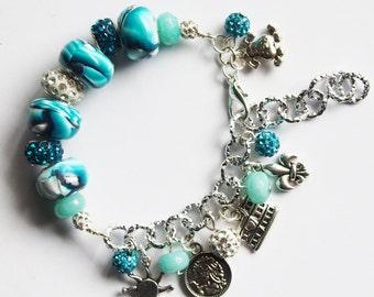 Asymmetrical-like bracelet pandora