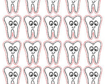 Dentist/Tooth // Planner // Stickers // Erin Condren // Personal Filofax