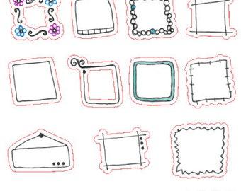 Frames // Stickers // Personal Filofax // Erin Condren // Planner