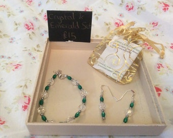 Crystal and Emerald Set