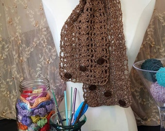 Antique Copper Shell Network Scarf