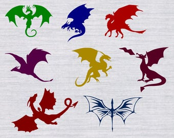 Dragon SVG bundle, Dragon svg files, Dragons svg, game of thrones svg, svg files for silhouette, cricut, vector, cutting file, dxf, clipart