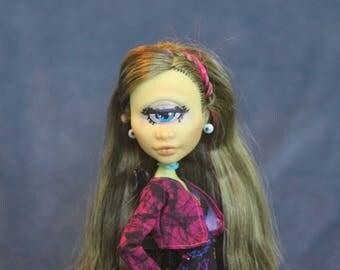 Repainted Monster High Doll Iris Clops