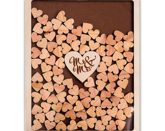 Book of signatures for your wedding. 200 hearts, including capacity!