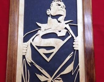 Superman Wooden Portrait