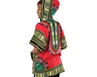 Shortsleeved Dashiki hoodie
