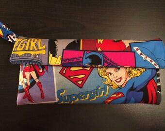 Super Heroine Switch Case/Clutch Purse