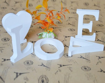 White Wooden Alphabet Letters