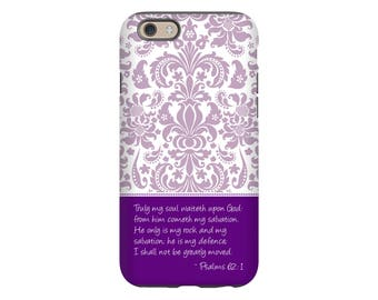 Bible verse iPhone case, Psalms 62:1 iPhone case, Love iPhone 7 case, bible verse iPhone case, scripture iPhone case, Christian Galaxy case